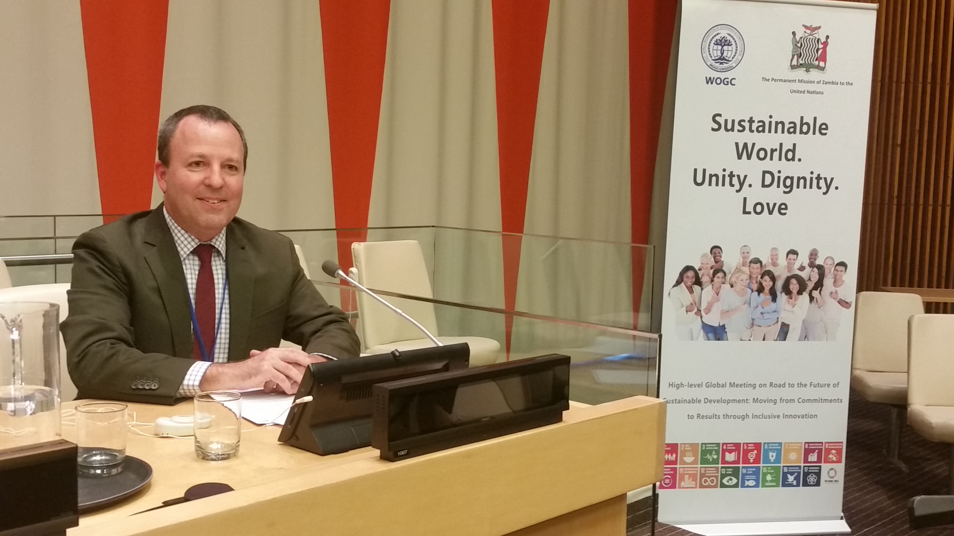 SCI Science Director Alan Bigelow addresses the UN ECOSOC.