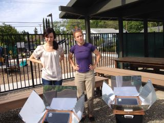 SCI trains food bank staff in solar cooking
